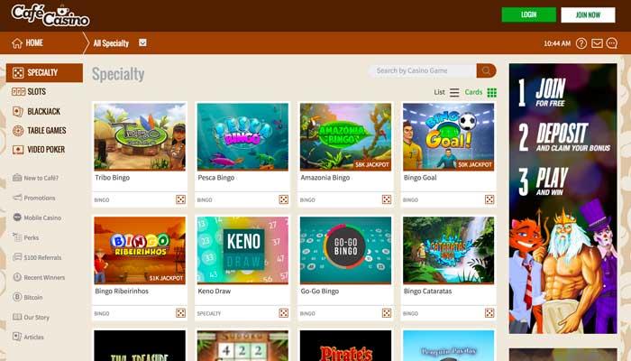 Cafe Casino Specialty Screenshot