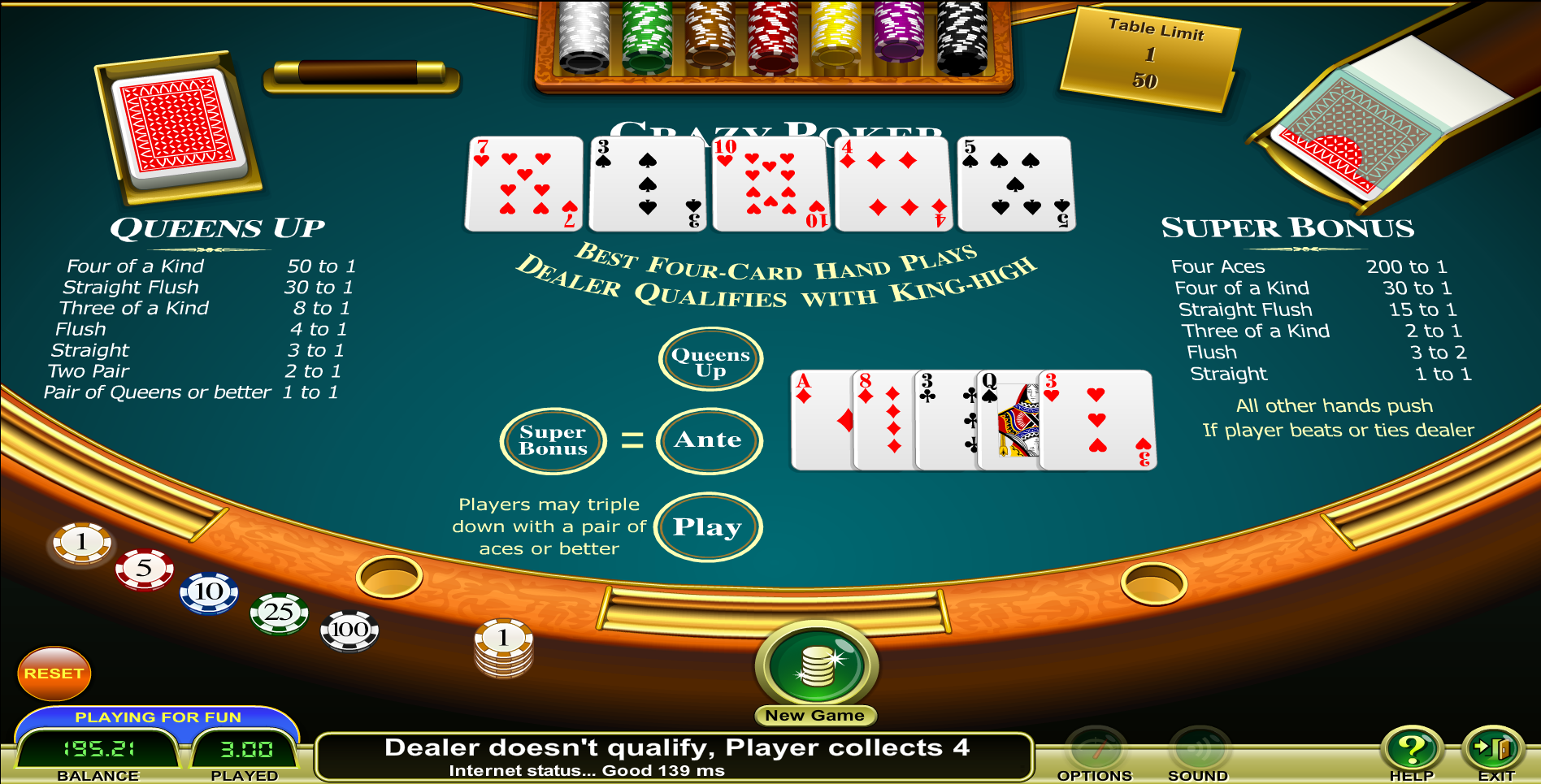 Crazy 4 poker betting strategy media card reader slot