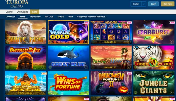 Europa Casino Slots Screenshot