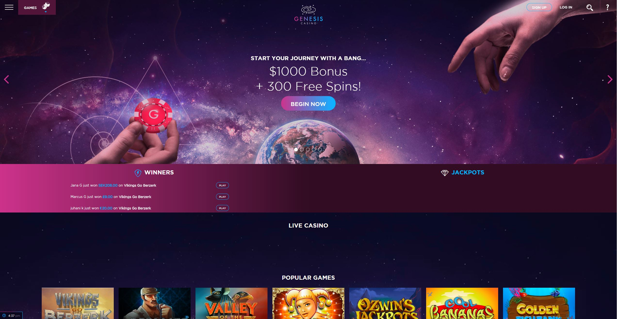 Genesis Casino Screenshot1