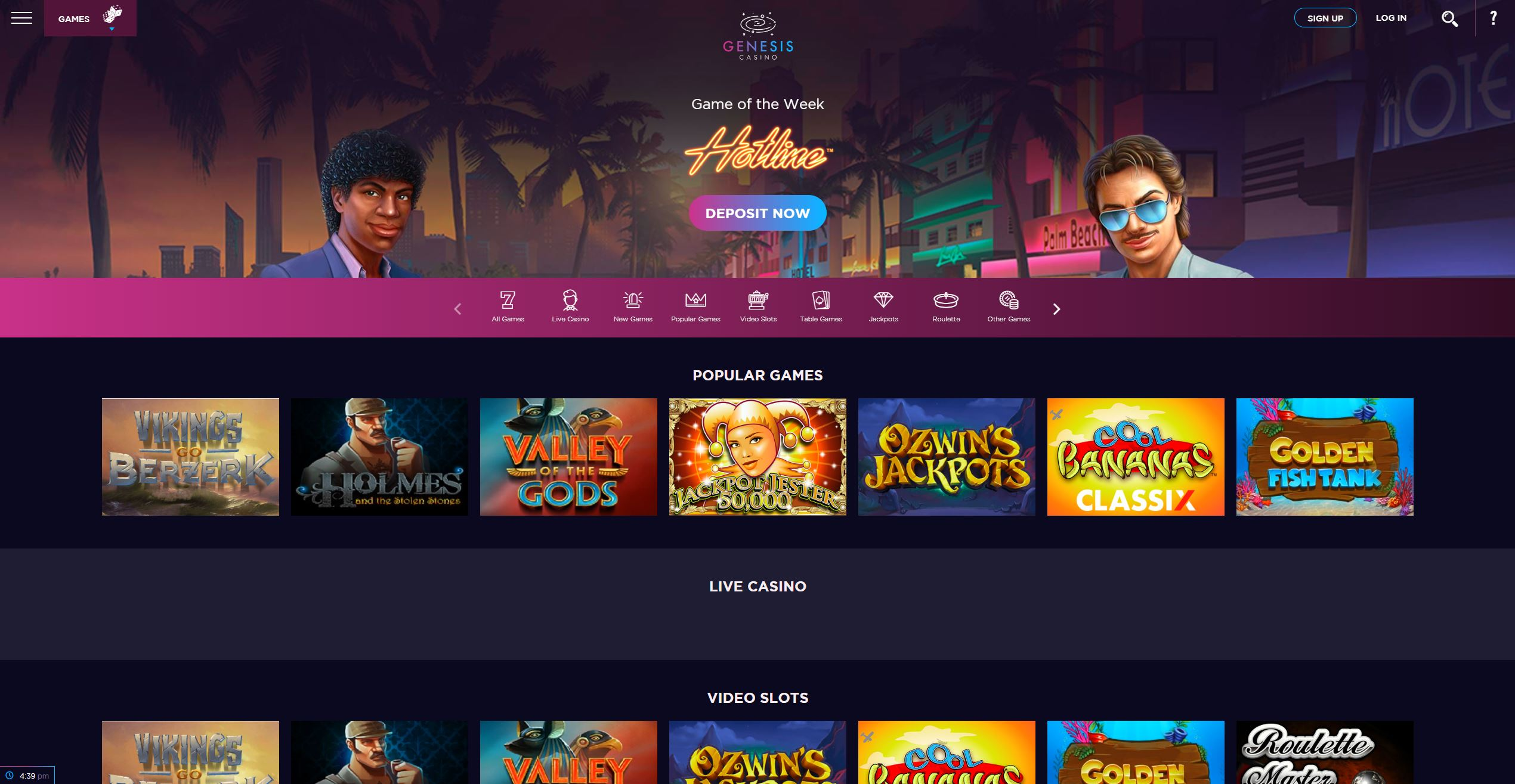 Genesis Casino Screenshot2