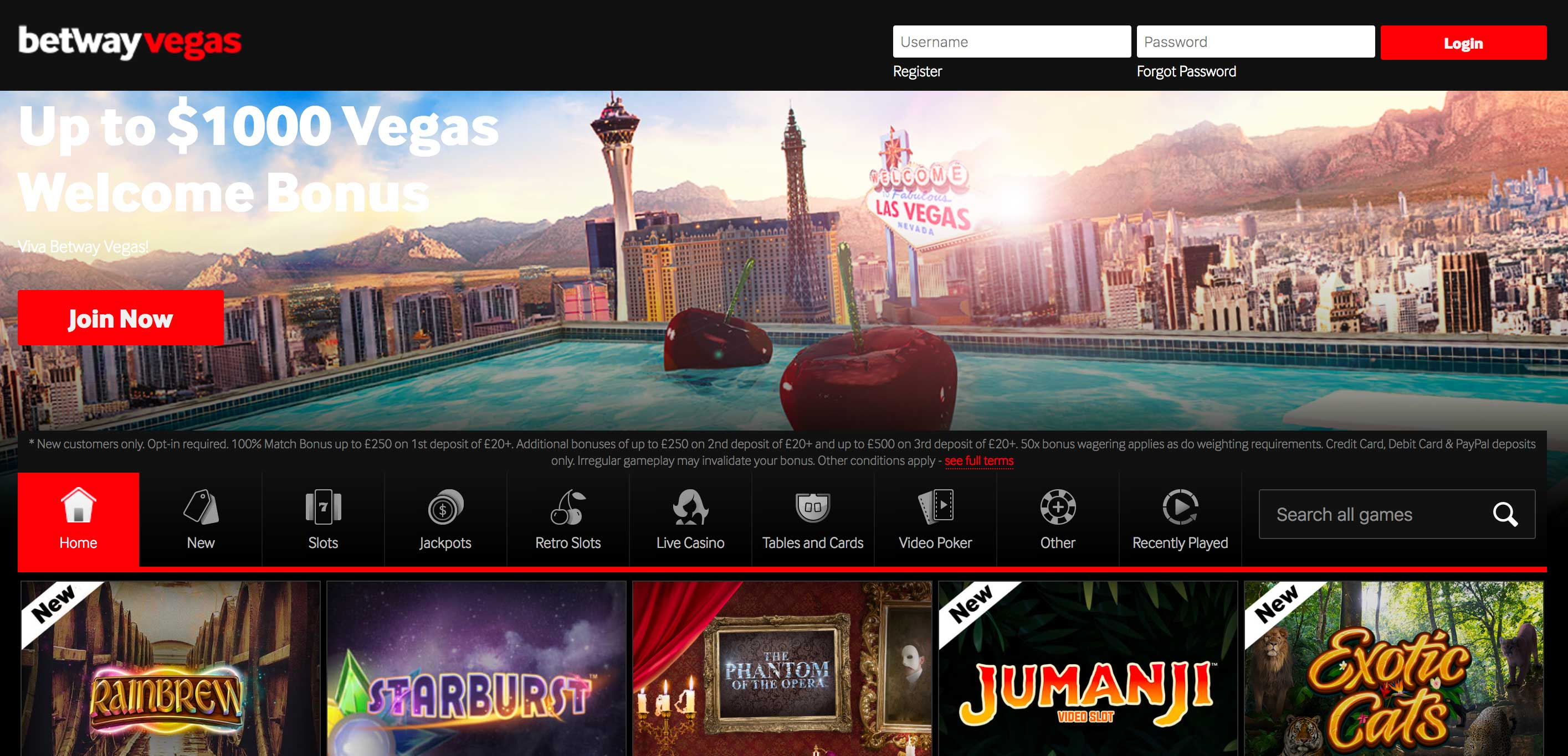 Betway Vegas Screenshot