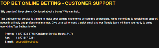 TopBet Customer Support